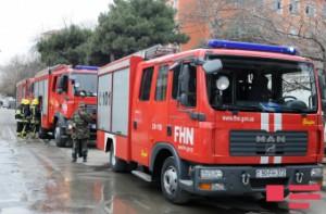 Bakıda 3 otaqlı ev yandı