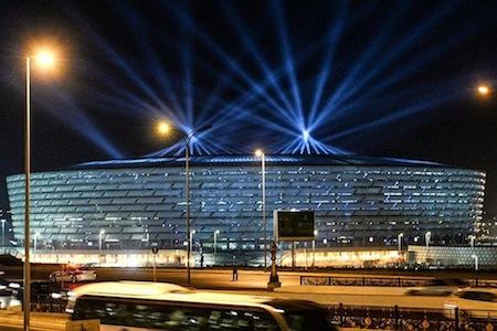 Bakıdakı 640 milyonluq stadion toyxanaya çevrildi FOTO