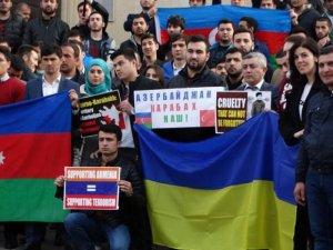 Kiyevdə Qarabağa dəstək aksiyası keçirildi FOTO