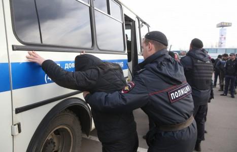 Rusiya bazarında kütləvi dava