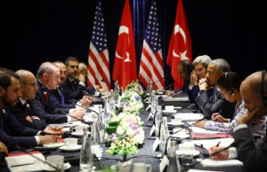 Obama və Ərdoğan görüşdü - FOTOLAR