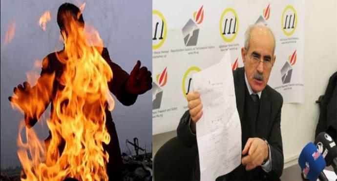 Qarabağ qazisi Prezident Administrasiyasının qarşısında özünü yandırdı