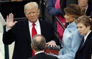Tramp and içərək prezidentliyə başladı FOTO