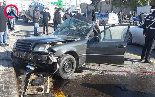 Bakıda dəhşət: avtomobil ortadan bölündü, sürücü öldü