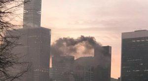 Nyu-Yorkda Trampın binası yanır